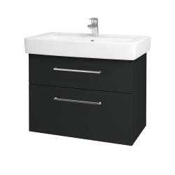 Dřevojas - Koupelnová skříň Q MAX SZZ2 80 - L03 Antracit vysoký lesk / Úchytka T04 / L03 Antracit vysoký lesk (60391E)