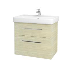 Dřevojas - Koupelnová skříň Q MAX SZZ2 70 - D04 Dub / Úchytka T04 / D04 Dub (60407E)