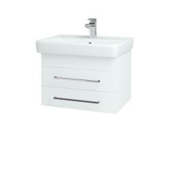 Dřevojas - Koupelnová skříň Q ZÁSUVKOVÉ SZZ2 60 - N01 Bílá lesk / Úchytka T04 / L01 Bílá vysoký lesk (72721E)