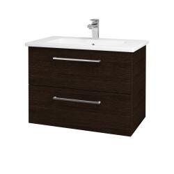 Dřevojas - Koupelnová skříň GIO SZZ2 80 - D08 Wenge / Úchytka T04 / D08 Wenge (82089E)