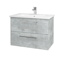 Dřevojas - Koupelnová skříň GIO SZZ2 80 - D01 Beton / Úchytka T04 / D01 Beton (82096E)