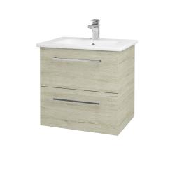 Dřevojas - Koupelnová skříň GIO SZZ2 60 - D05 Oregon / Úchytka T04 / D05 Oregon (82904E)