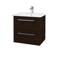 Dřevojas - Koupelnová skříň GIO SZZ2 60 - D08 Wenge / Úchytka T04 / D08 Wenge (82928E)