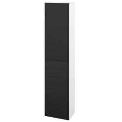 Dřevojas - Skříň vysoká DOS SV1D2 35 - N01 Bílá lesk / Bez úchytky T31 / L03 Antracit vysoký lesk / Pravé (156008DP)