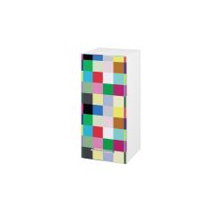 Dřevojas - Skříň horní DOS SYD 35 - N01 Bílá lesk / Úchytka T04 / IND Individual / Levé (156800E)