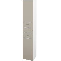 Dřevojas - Skříň vysoká DOS SVD2Z2 35 - N01 Bílá lesk / Úchytka T04 / M05 Béžová mat / Levé (210021E)