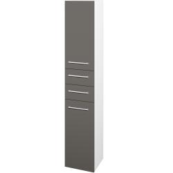 Dřevojas - Skříň vysoká DOS SVD2Z2 35 - N01 Bílá lesk / Úchytka T03 / N06 Lava / Pravé (210137CP)