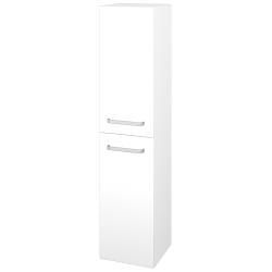 Dřevojas - Skříň vysoká DOS SVD2 35 - N01 Bílá lesk / Úchytka T01 / M01 Bílá mat / Levé (210410A)