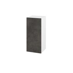 Dřevojas - Skříň horní DOS SYD 35 - N01 Bílá lesk / Bez úchytky T31 / D16 Beton tmavý / Levé (211943D)