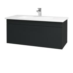 Dřevojas - Koupelnová skříň ASTON SZZ 100 - L03 Antracit vysoký lesk / Úchytka T05 / L03 Antracit vysoký lesk (109318F)