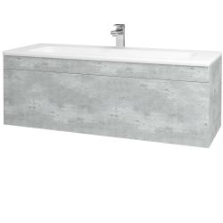 Dřevojas - Koupelnová skříň ASTON SZZ 120 - D01 Beton / Úchytka T05 / D01 Beton (131449F)