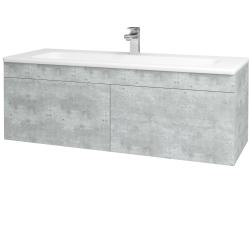 Dřevojas - Koupelnová skříň ASTON SZZ2 120 - D01 Beton / Úchytka T05 / D01 Beton (131517F)