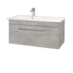 Dřevojas - Koupelnová skříň ASTON SZZ 90 - L03 Antracit vysoký lesk / Úchytka T05 / L03 Antracit vysoký lesk (199593F)