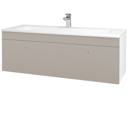 Dřevojas - Koupelnová skříň ASTON SZZ 120 - N01 Bílá lesk / Úchytka T05 / N07 Stone (200169F)