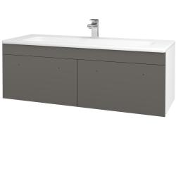 Dřevojas - Koupelnová skříň ASTON SZZ2 120 - N01 Bílá lesk / Úchytka T05 / N06 Lava (200312F)