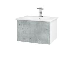 Dřevojas - Koupelnová skříň VARIANTE SZZ 60 (umyvadlo Euphoria) - N01 Bílá lesk / D20 Galaxy (258085)