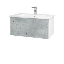 Dřevojas - Koupelnová skříň VARIANTE SZZ 80 (umyvadlo Euphoria) - N01 Bílá lesk / D21 Tobacco (258177)