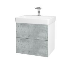 Dřevojas - Koupelnová skříň VARIANTE SZZ2 60 - N01 Bílá lesk / D21 Tobacco (259242)