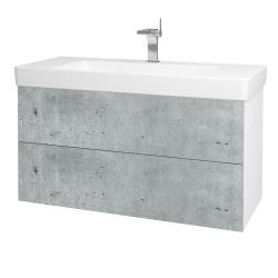 Dřevojas - Koupelnová skříň VARIANTE SZZ2 105 - N01 Bílá lesk / D20 Galaxy (259471)