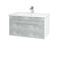 Dřevojas - Koupelnová skříň ASTON SZZ 80 - N01 Bílá lesk / Úchytka T03 / D20 Galaxy (276683C)