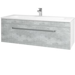 Dřevojas - Koupelnová skříň ASTON SZZ 120 - N01 Bílá lesk / Úchytka T01 / D20 Galaxy (276805A)