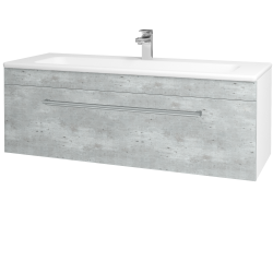 Dřevojas - Koupelnová skříň ASTON SZZ 120 - N01 Bílá lesk / Úchytka T03 / D21 Tobacco (276812C)