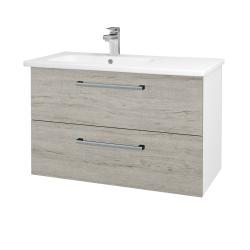 Dřevojas - Koupelnová skříň GIO SZZ2 90 - N01 Bílá lesk / Úchytka T03 / D20 Galaxy (277284C)
