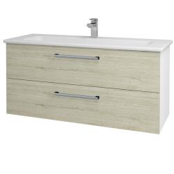 Dřevojas - Koupelnová skříň GIO SZZ2 120 - N01 Bílá lesk / Úchytka T03 / D20 Galaxy (277369C)