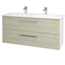 Dřevojas - Koupelnová skříň GIO SZZ2 120 - N01 Bílá lesk / Úchytka T04 / D20 Galaxy (277369EU)