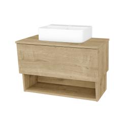 Dřevojas - Koupelnová skříň INVENCE SZZO 80 (umyvadlo Joy 3) - L03 Antracit vysoký lesk / L03 Antracit vysoký lesk (326531)