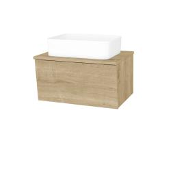 Dřevojas - Koupelnová skříň INVENCE SZZ 65 (umyvadlo Joy) - L03 Antracit vysoký lesk / L03 Antracit vysoký lesk (326869)