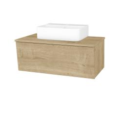 Dřevojas - Koupelnová skříň INVENCE SZZ 80 (umyvadlo Joy 3) - L03 Antracit vysoký lesk / L03 Antracit vysoký lesk (327132)