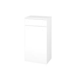 Dřevojas - Skříň spodní DOS SNDZ 50 - N01 Bílá lesk / Úchytka T05 / L01 Bílá vysoký lesk / Levé (156411F)
