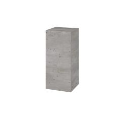 Dřevojas - Skříň horní DOS SYD 35 - D01 Beton / Úchytka T05 / D01 Beton / Pravé (156596FP)