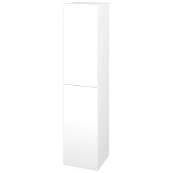 Dřevojas - Skříň vysoká s košem DOS SVD2K 35 - N01 Bílá lesk / Úchytka T05 / L01 Bílá vysoký lesk / Pravé (210830FP)