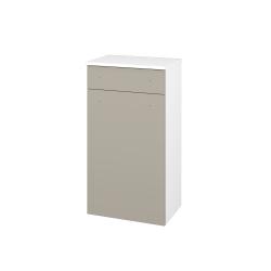 Dřevojas - Skříň spodní DOS SNDZ 50 - N01 Bílá lesk / Úchytka T05 / M05 Béžová mat / Pravé (211424FP)