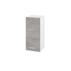 Dřevojas - Skříň horní DOS SYD 35 - N01 Bílá lesk / Úchytka T05 / D21 Tobacco / Levé (280352F)