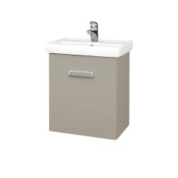 Dřevojas - Koupelnová skříň DOOR SZD 55 - L04 Béžová vysoký lesk / Úchytka T39 / L04 Béžová vysoký lesk / Levé (151720G)