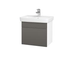Dřevojas - Koupelnová skříň SOLO SZZ 50 - N01 Bílá lesk / Úchytka T05 / N06 Lava (205379F)