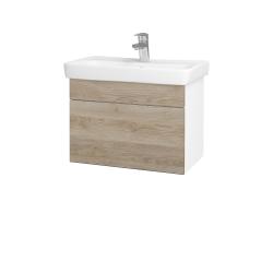 Dřevojas - Koupelnová skříň SOLO SZZ 60 - N01 Bílá lesk / Úchytka T05 / D17 Colorado (205737F)