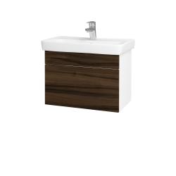 Dřevojas - Koupelnová skříň SOLO SZZ 60 - N01 Bílá lesk / Úchytka T05 / D06 Ořech (21897F)