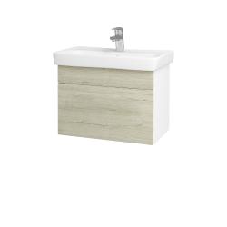 Dřevojas - Koupelnová skříň SOLO SZZ 60 - N01 Bílá lesk / Úchytka T05 / D05 Oregon (23686F)