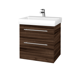 Dřevojas - Koupelnová skříň PROJECT SZZ2 60 - D06 Ořech / Úchytka T02 / D06 Ořech (322434B)