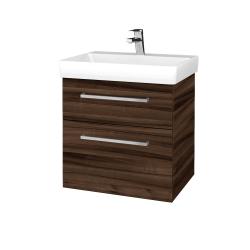 Dřevojas - Koupelnová skříň PROJECT SZZ2 60 - D06 Ořech / Úchytka T04 / D06 Ořech (322434E)