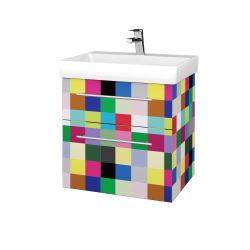 Dřevojas - Koupelnová skříň PROJECT SZZ2 60 - IND Individual / Úchytka T02 / IND Individual (322526B)