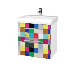 Dřevojas - Koupelnová skříň PROJECT SZZ2 60 - N01 Bílá lesk / Úchytka T04 / IND Individual (322724E)