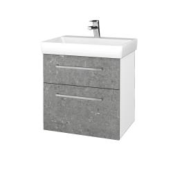 Dřevojas - Koupelnová skříň PROJECT SZZ2 60 - N01 Bílá lesk / Úchytka T04 / D20 Galaxy (322830E)