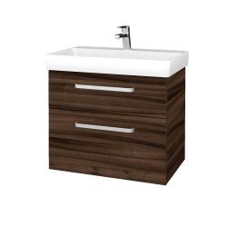 Dřevojas - Koupelnová skříň PROJECT SZZ2 70 - D06 Ořech / Úchytka T01 / D06 Ořech (322892A)