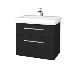 Dřevojas - Koupelnová skříň PROJECT SZZ2 70 - L03 Antracit vysoký lesk / Úchytka T04 / L03 Antracit vysoký lesk (322991E)