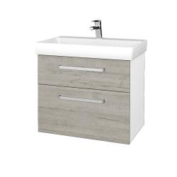 Dřevojas - Koupelnová skříň PROJECT SZZ2 70 - N01 Bílá lesk / Úchytka T01 / D05 Oregon (323080A)